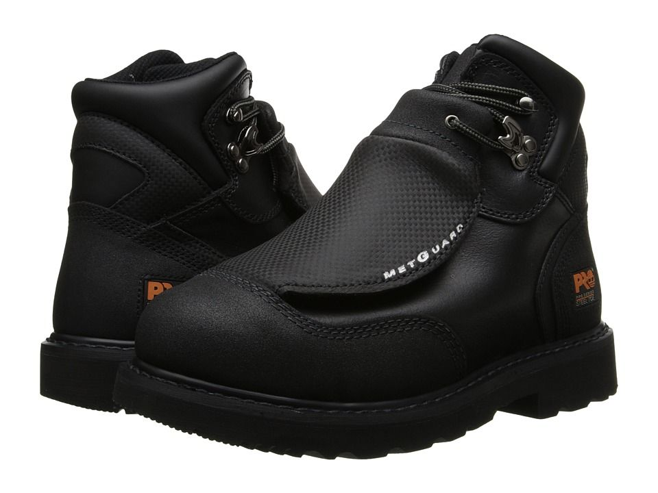 Timberland PRO Met Guard 6 Steel Toe Men's Work Lace-up Boots Black Ever- Guard Leather