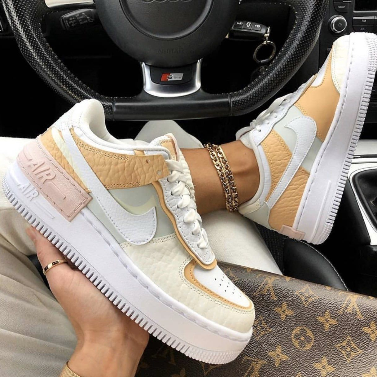 air force 1 femme shadow pale ivory