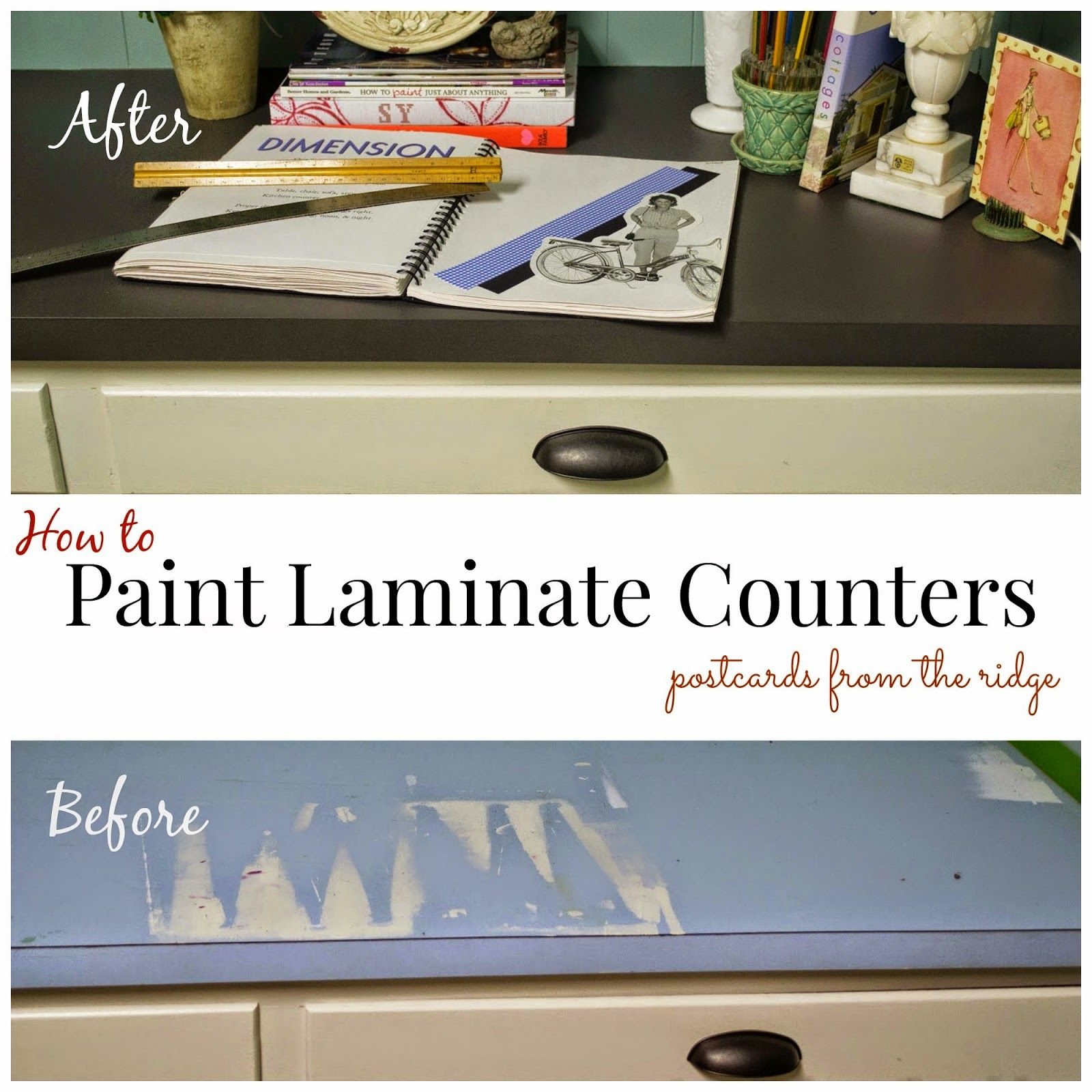 How to paint a laminate counter top #countertop