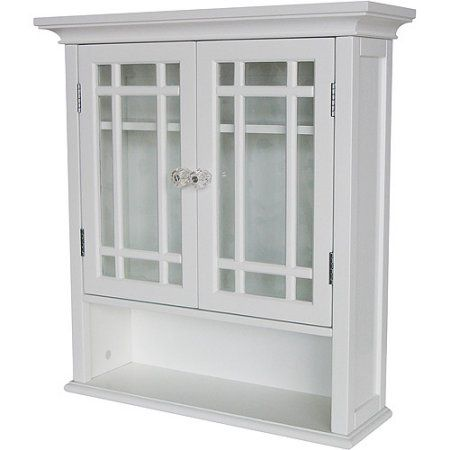 Heritage Wall Cabinet with Doors and Shelf, White - Walmart.com