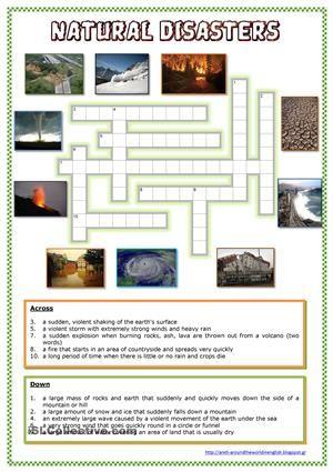 natural disasters english crosswords natural disasters worksheets simple machines. Black Bedroom Furniture Sets. Home Design Ideas