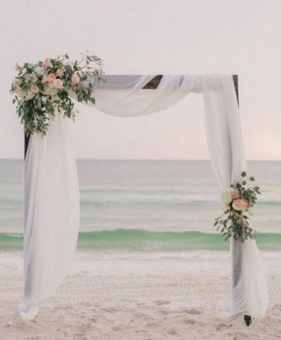 Ranunculus Eucalyptus 2 Piece Wedding Arch Arrangement Etsy Simple Beach Wedding Beach Wedding Decorations Wedding Beach Ceremony