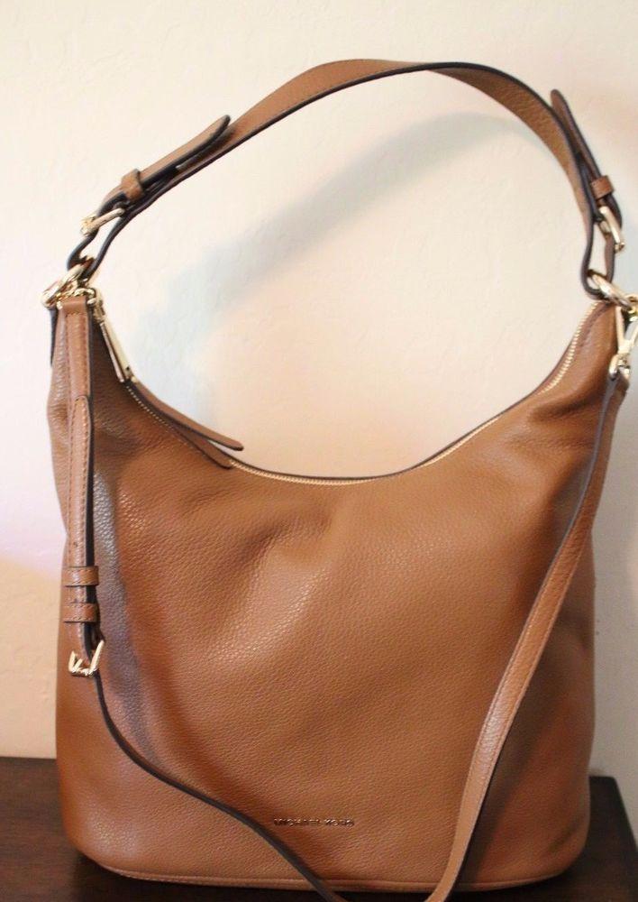 90060787c102 Michael Michael Kors Lupita Large Hobo Leather Brown Luggage Purse Bag  298  NEW  MichaelKors  Hobo