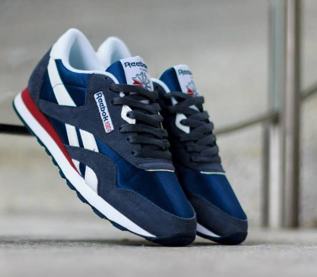 reebok classic blue and red