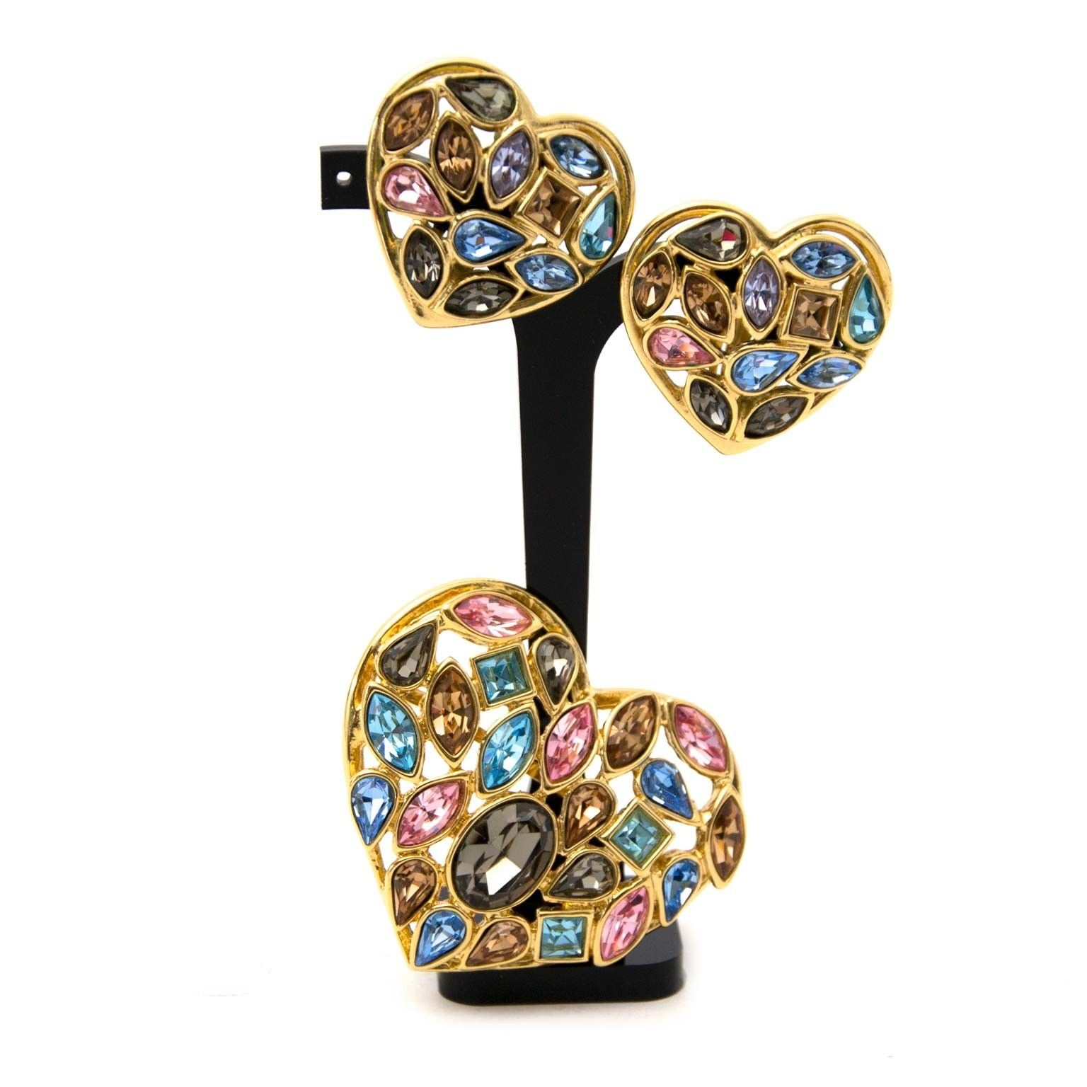 35f6a6a209f Earrings   Brooch ○ Buy and Sell Authentic Luxury. Yves Saint Laurent ...