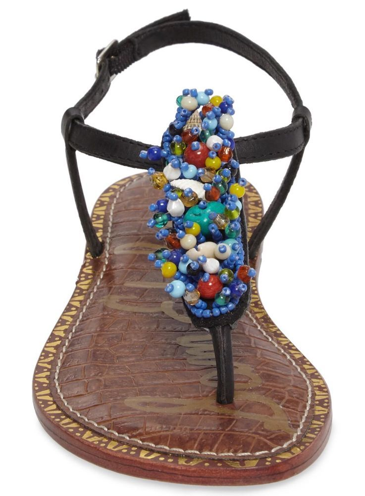 fb92683e4194 Sam Edelman Gabrielle Beaded Thong Sandal Sizes 6