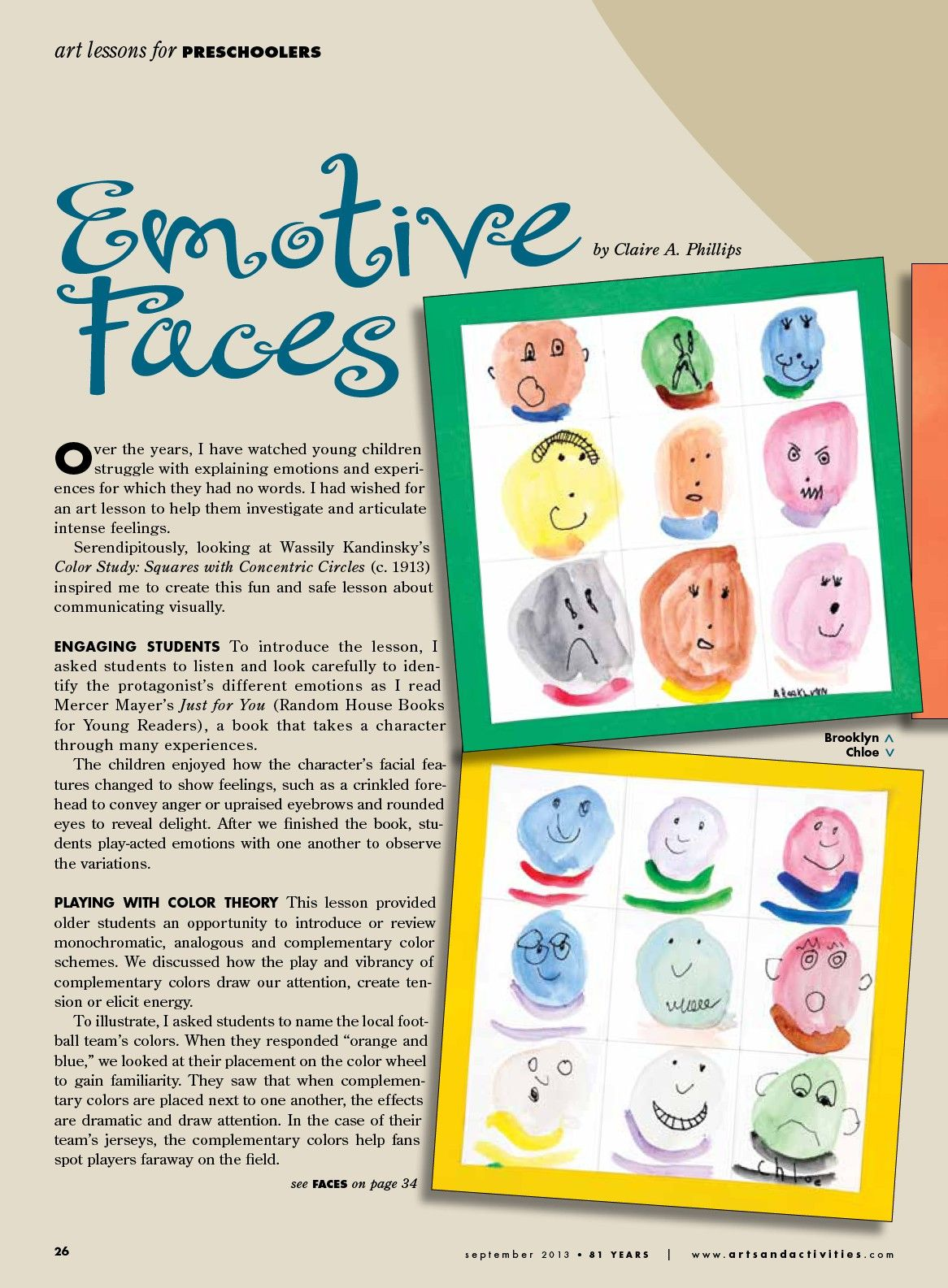 Pre k arts and crafts - Emotive Faces For Pre K Arts Activities Page 24
