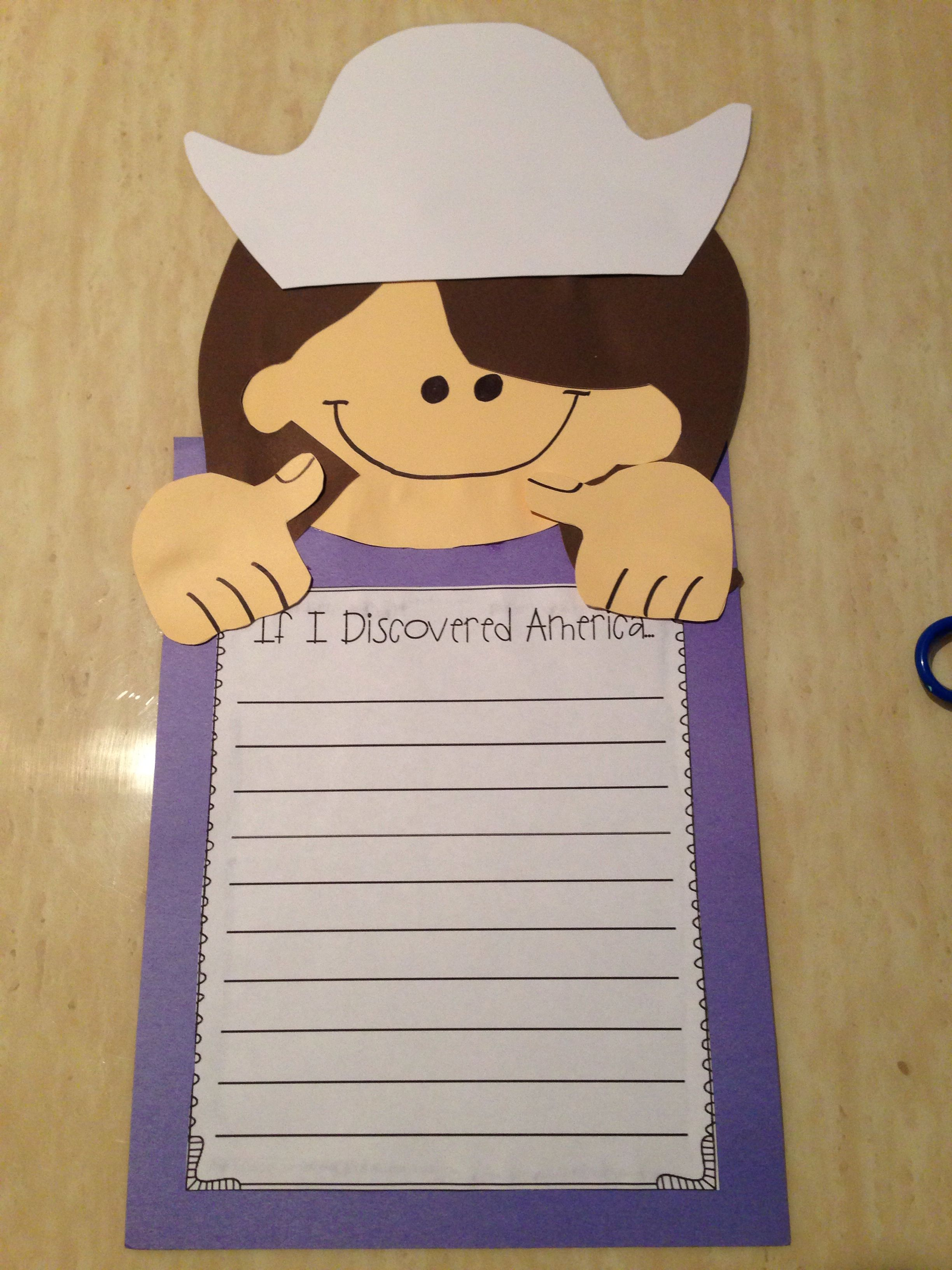 Columbus Day Writing Activity Free At Teachers Pay