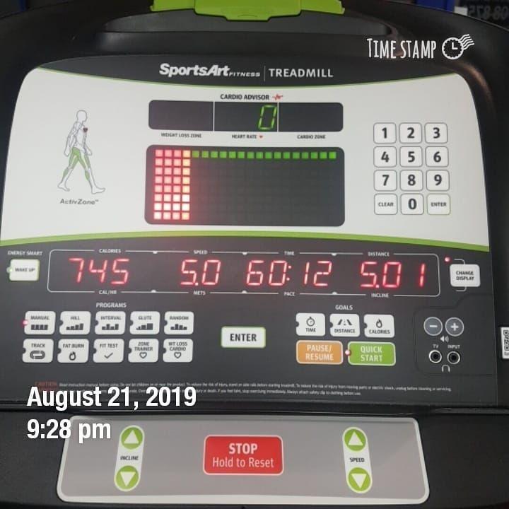 21/8/2019 ABS 💪evening workout w junho, Kwan *60mins treadmill *hanging leg raise *sit up *crunch #f...