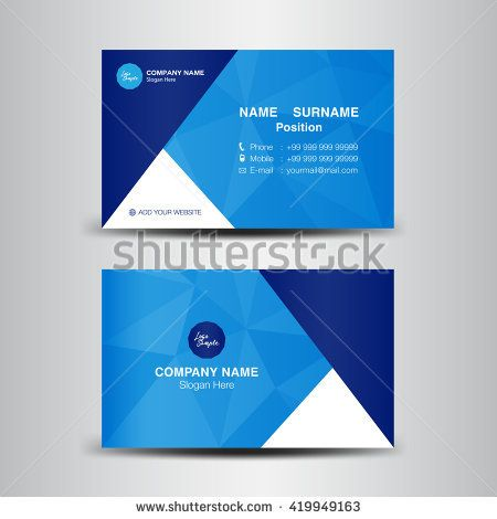 Vector modern creative and clean business card templateblue polygon vector modern creative and clean business card templateblue polygon backgroundflyer design reheart Images