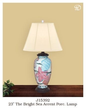 Delectably Yours Beach Themed Seashell Lamp Lighthouse Decor