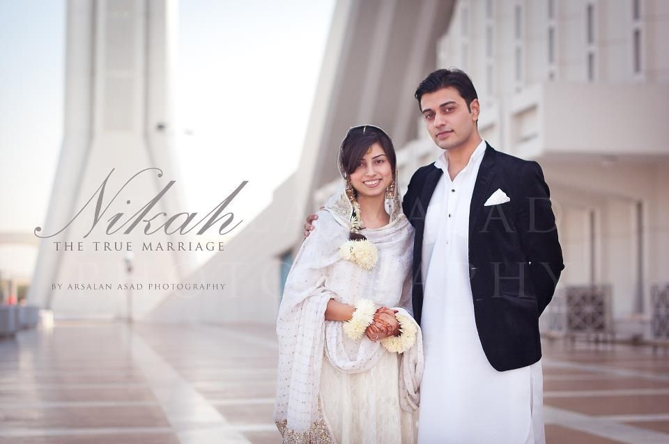 Simple Yet Elegant Wedding Dresses: Nikkah At Faisal Masjid
