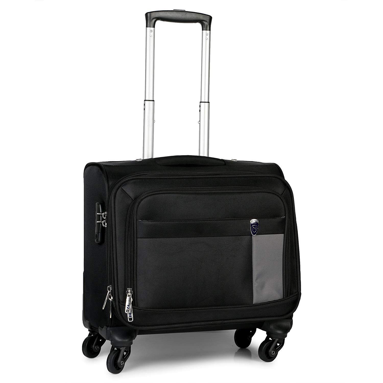 Novex Polyester 42 Ltr Black Laptop Roller Case (With