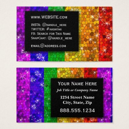 Lgbtq pride glitter rainbow makeup artist bling business card lgbtq pride glitter rainbow makeup artist bling business card colourmoves
