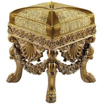 This Is A Tabouret Stool From The Baroque Period This Piece Of