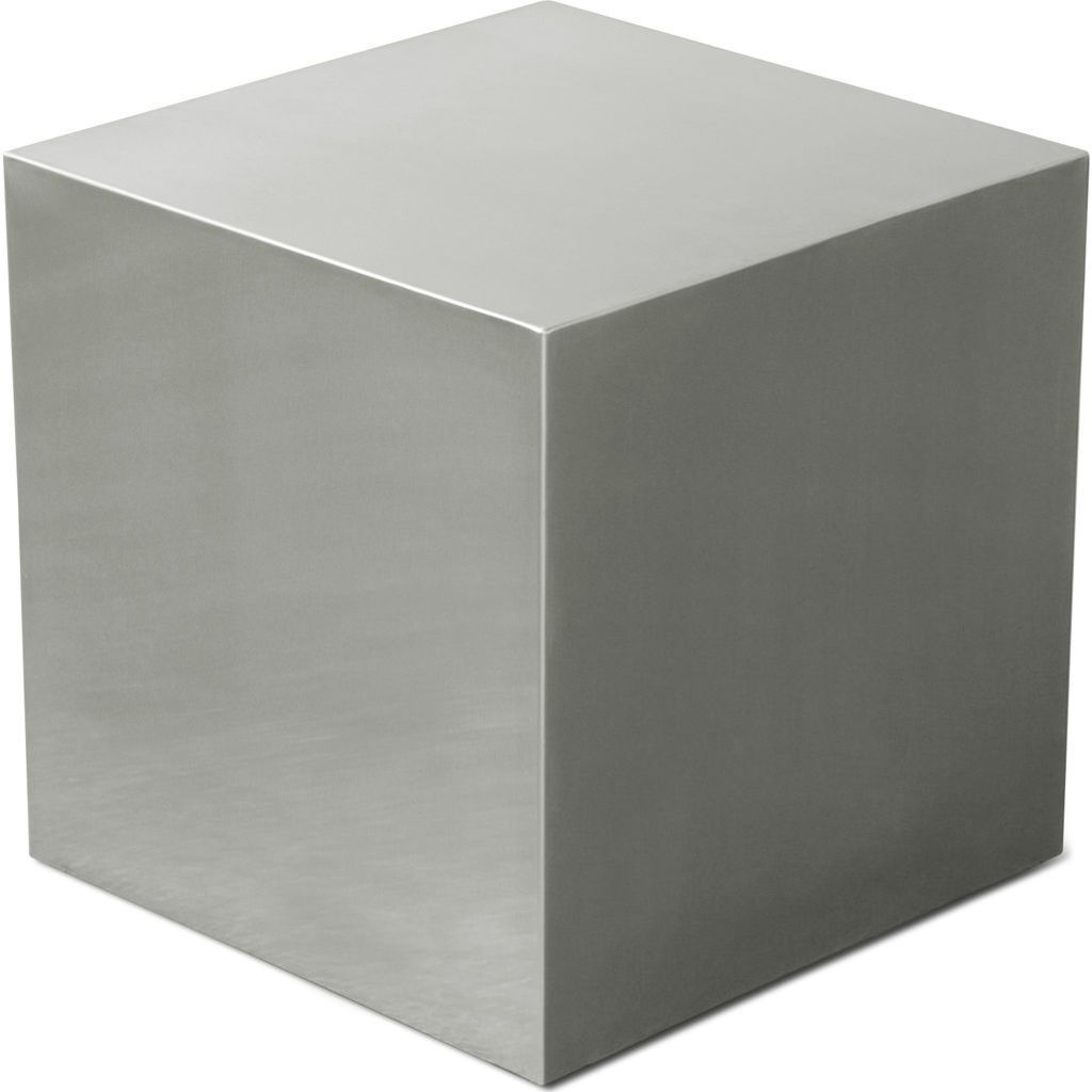 Gus* Modern Metal Cube Ottoman Stainless Steel Cube