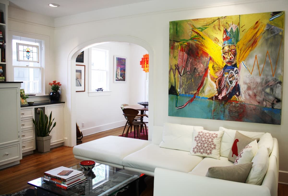 Ami And Seans Colorful Welcoming Art Filled Home