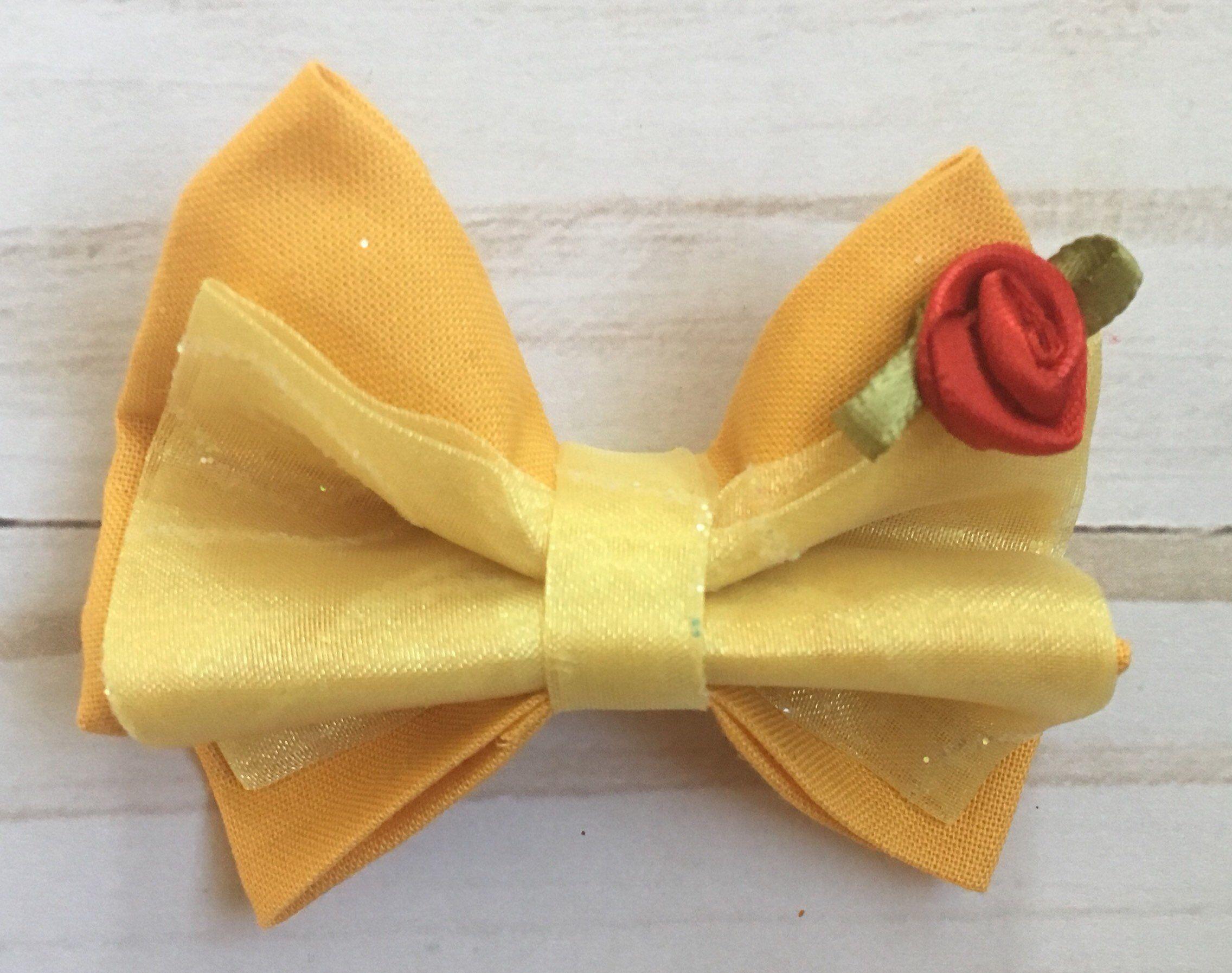 Handmade ⭐️ Disney Glitter Hair Bows 3 Inch ⭐️