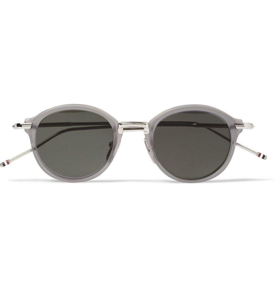 7e28a2b5665 Thom Browne - Round-Frame Acetate and Metal Sunglasses