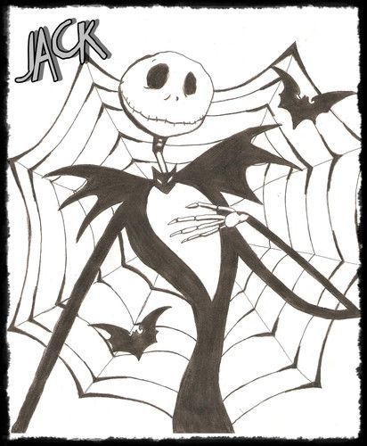 Dibujos para colorear de jack skeleton - Imagui | NBC | Pinterest
