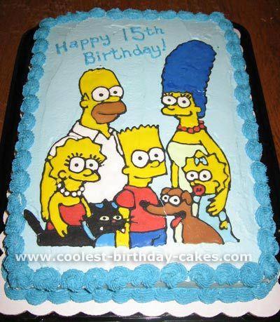 Coolest simpsons picture cakes on the web s largest - Simpson anniversaire ...