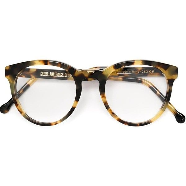 96a70d78e4e Cutler   Gross round frame glasses (410 CHF) ❤ liked on Polyvore featuring  accessories