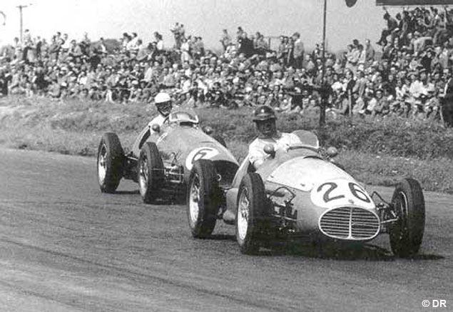 #6 Giuseppe Farina (I) - Ferrari 500 (Ferrari 4) 3 (5) Scuderia Ferrari #26 Onofre Marimon (RA) - Maserati A6GCM (Maserati 6) engine (7) Officine Alfieri Maserati