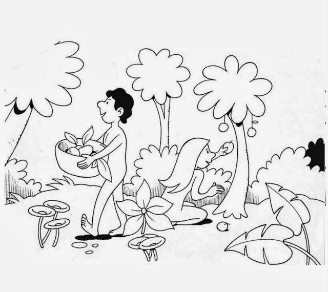 Me aburre la religi n ad n y eva para preescolares trabajitos para ni os pinterest for Adan y eva en el jardin