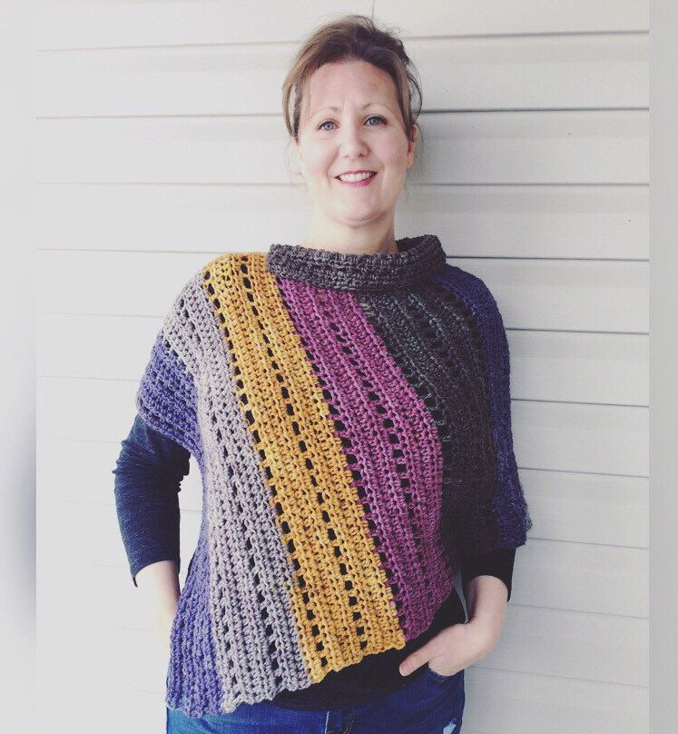 CROCHET PONCHO PATTERN:Apex Poncho/Crochet Pattern/Crochet Poncho
