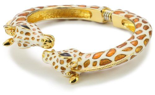 Kenneth Jay Lane White And Tan Enamel Giraffe Bracelet Jewelry