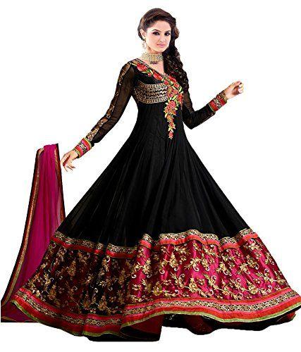 Khazanakart Exclusive Designer Black Colour Georgette Fab ...