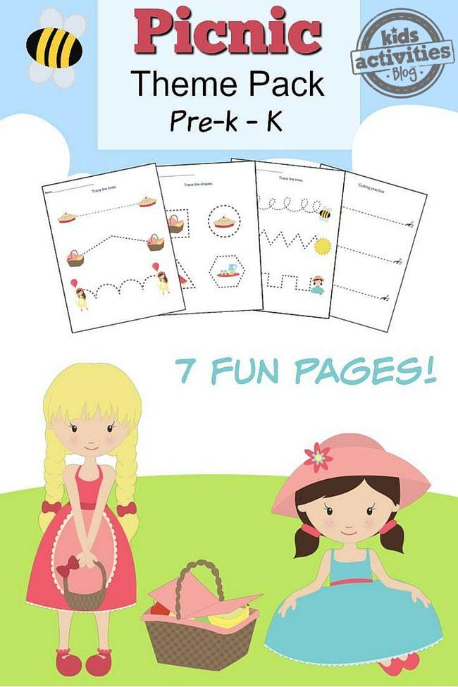 Picnic Printable Preschool Worksheet Pack  End Of The Year Ideas
