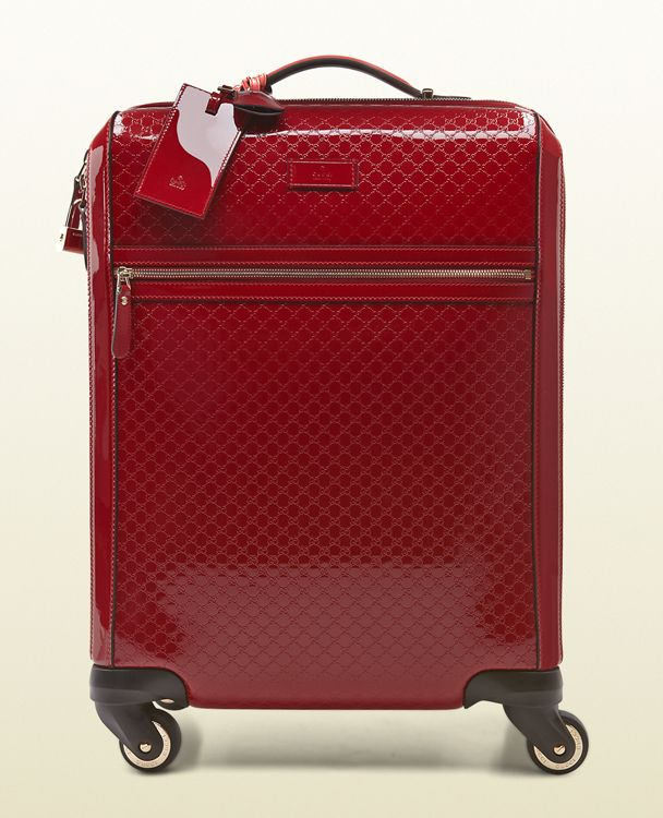 Gucci Microguccissima Patent Leather Carry On Suitcase