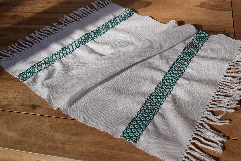 Antique Pair Pure Linen Bath Towels Dish Towels Organic Linen Tea