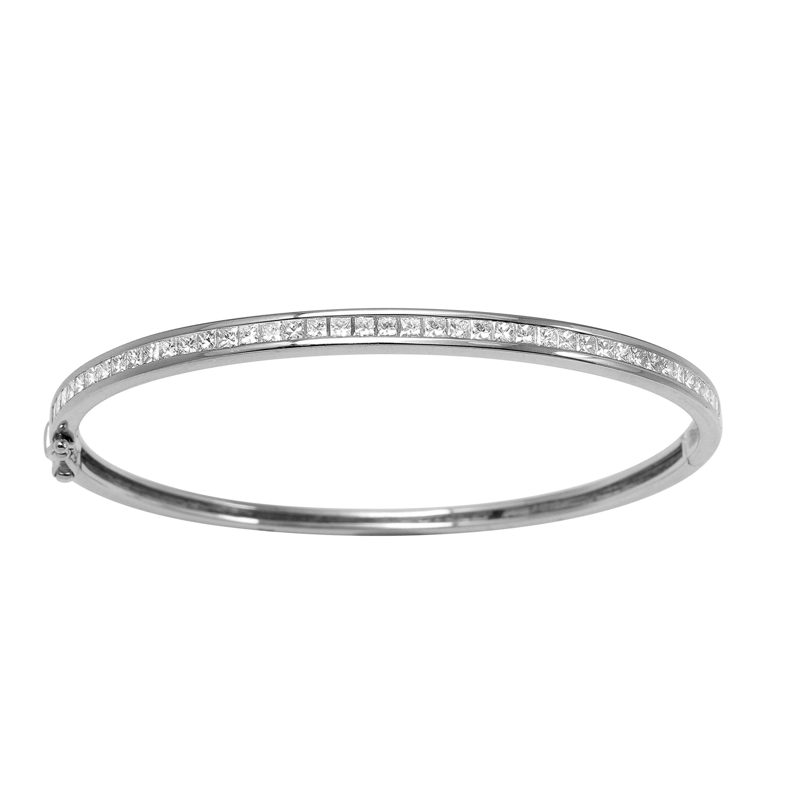 Genuine tcw k white gold ladies bangle gold color