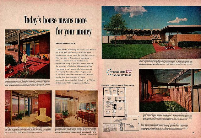 Five Star Home 2707 Vintage House Plans Mid Century House