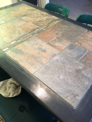 Makeover Dining Room Table Redo Tiled