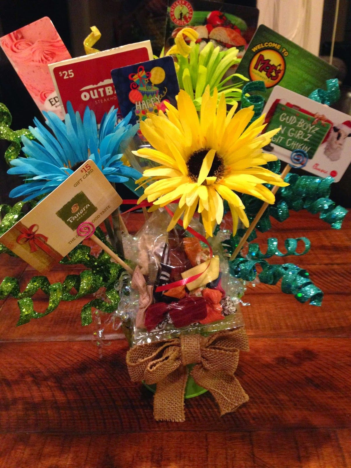 Gift Card Bouquet Gift Card Bouquet Gift Card Presentation