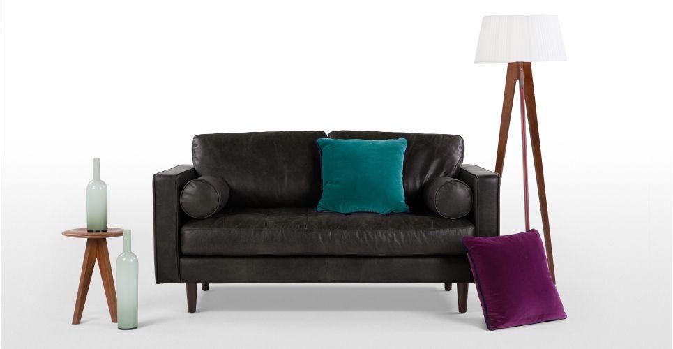 Scott 2 Seater Leather Sofa 999 Made Com Vintage Sofa 2 Seater Sofa Sofa