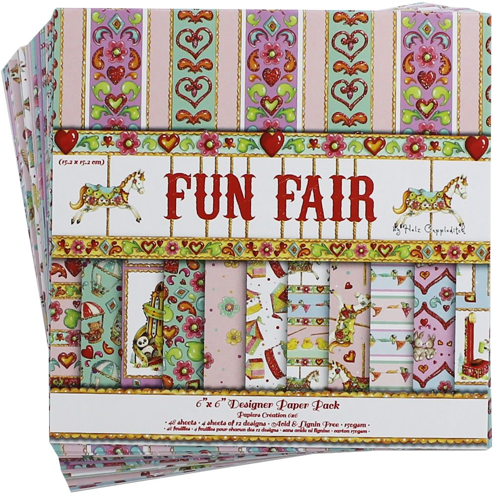 Fun Fair Paper Pack - 6 X 6 Inches | Card Making Supplies at The Works