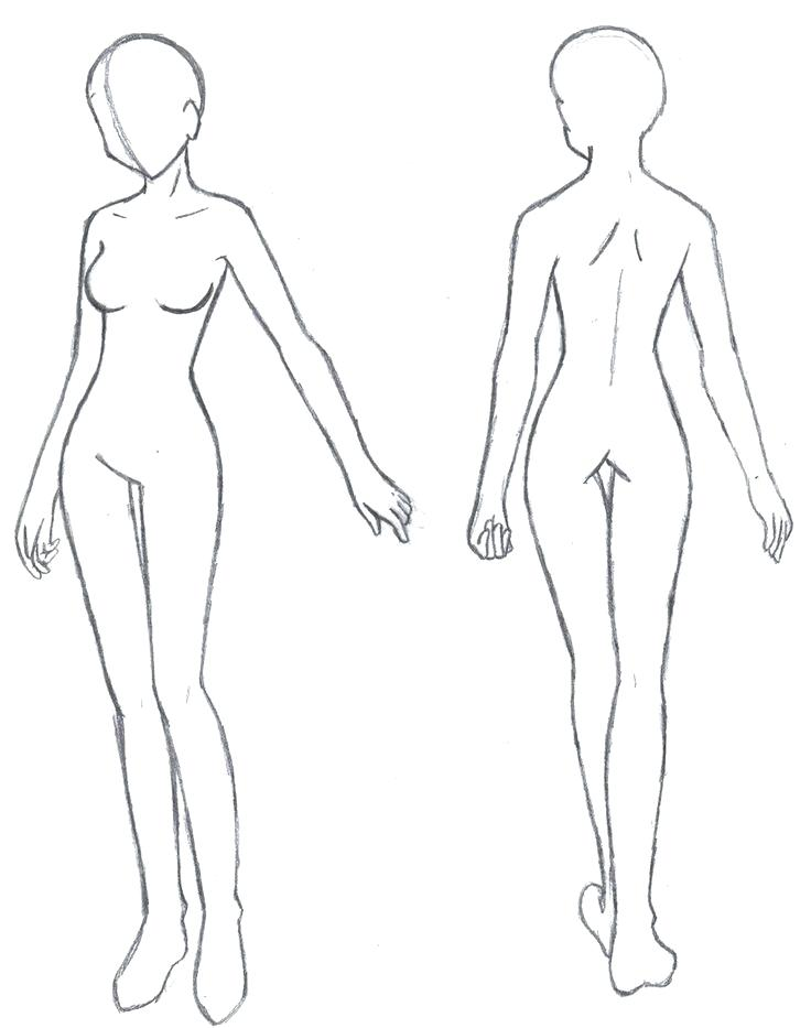 Female Design Template Indemo Co In 2020 Character Design Sketches Model Sketch Body Sketches
