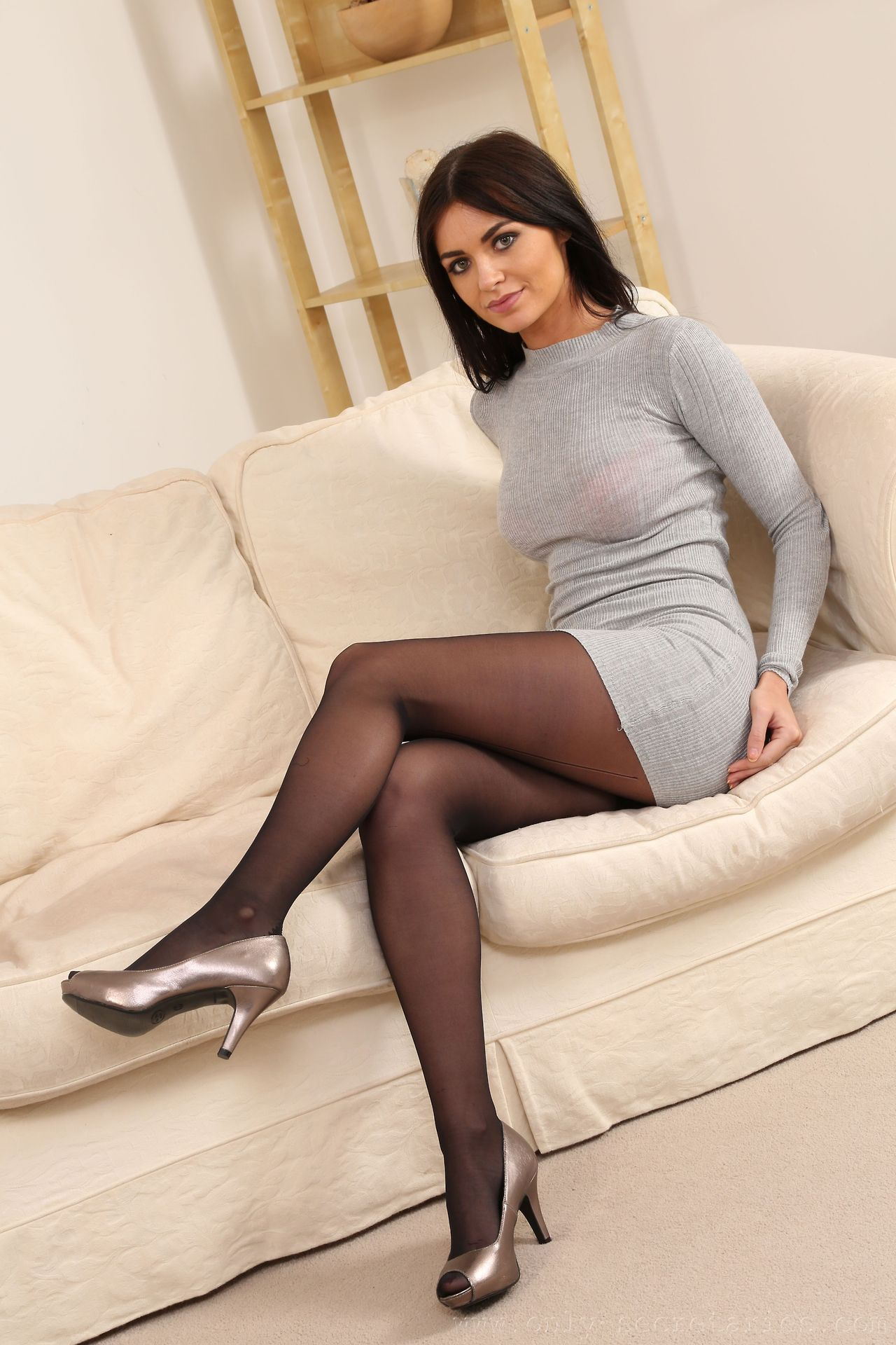 Phose1 | Pantyhose outfits, Black tights, Mini dress
