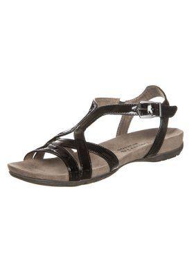 Sandaalit nilkkaremmillä - musta