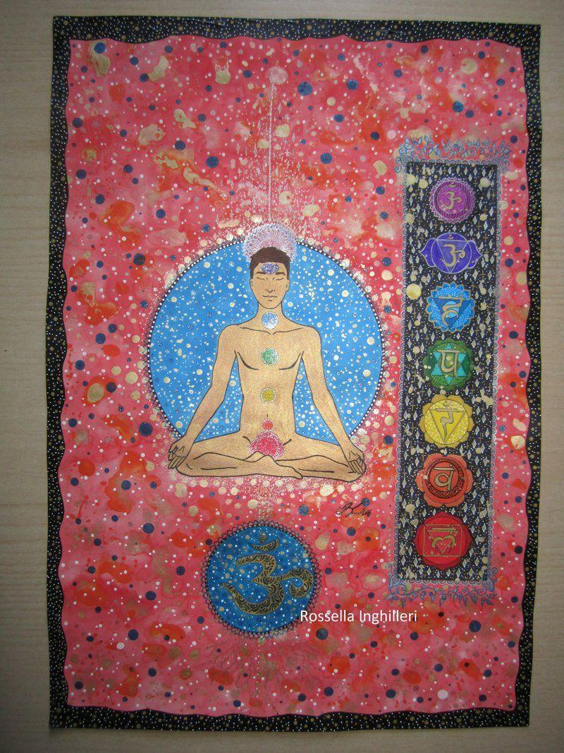 I sette chakra,posizione del loto-seconda versione by RossellaInghilleri.deviantart.com on @DeviantArt