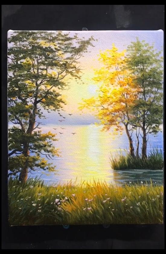 landscape painting acrylic canvas