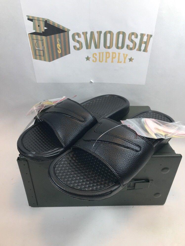 pretty nice 638c7 58c4c Nike Benassi JDI LTD Limited Slide Sandal Removable Swoosh Size 8 AQ8614  002  Nike  Slides