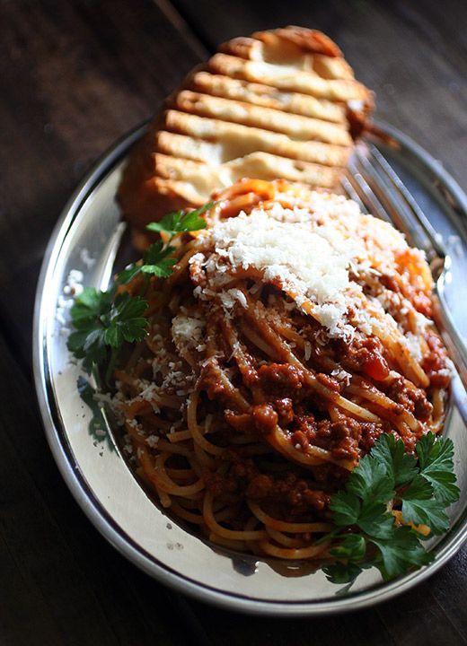 Spaghetti Alla Bolognese Pasta Ricette Pinterest Primi