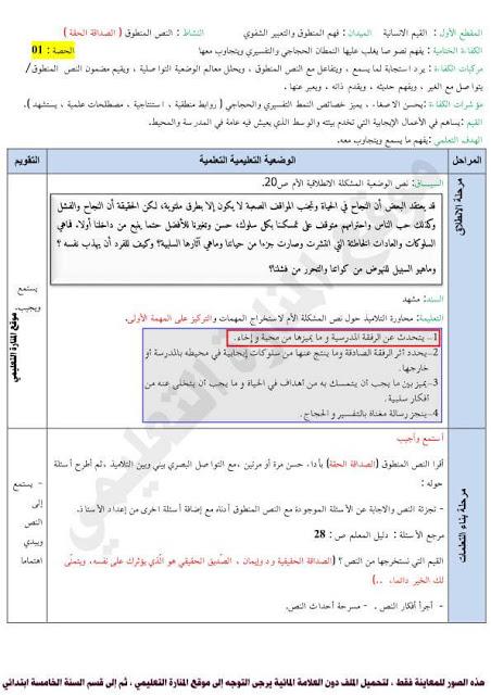 مذكرات السنة الخامسة 5 ابتدائي في اللغة العربية المقطع الاول الاسبوع الاول رفاق المدرسة Map Map Screenshot