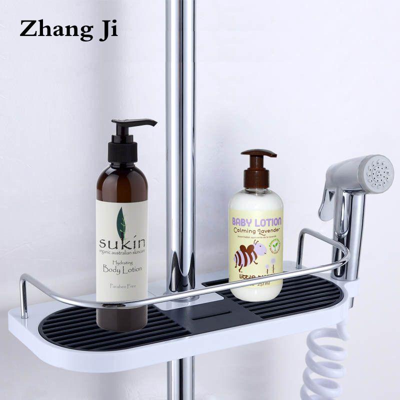 Bathroom Shampoo Storage Holder Tray Wall Mounted Plastic Shower ...