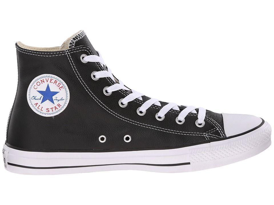 0cb3e2d0480b41 Converse Chuck Taylor(r) All Star(r) Leather Hi Classic Shoes Black ...